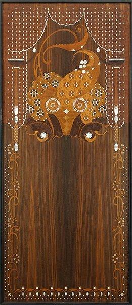 An Art Nouveau Mixed Inlay Panel. - 2