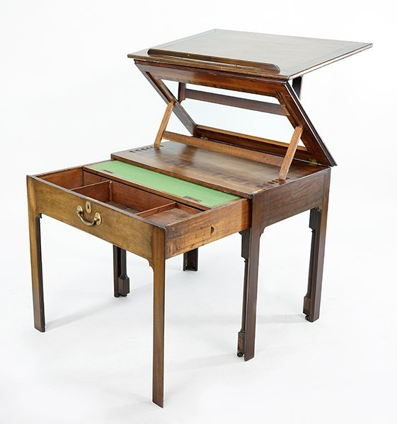 An English Mahogany Drafting Table. - 2