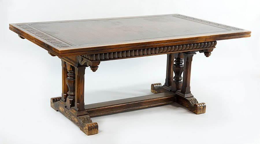 A Carved Oak Dining Suite. - 5