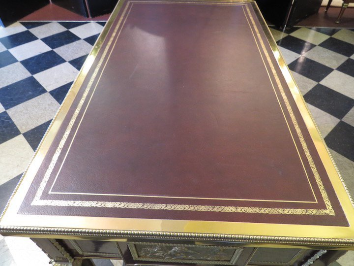 A French Ormolu Mounted Bureau Plat. - 9