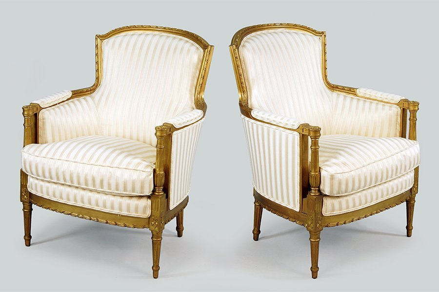 A Pair of French Fauteuils.