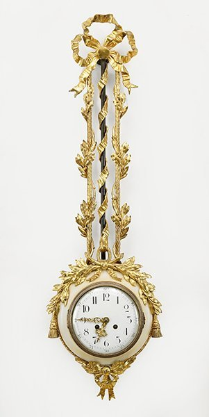 A French Gilt Metal and Marble Wall Clock.