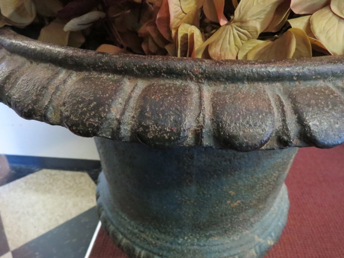 A Pair of Cast Iron Urn Form Planters. - 3
