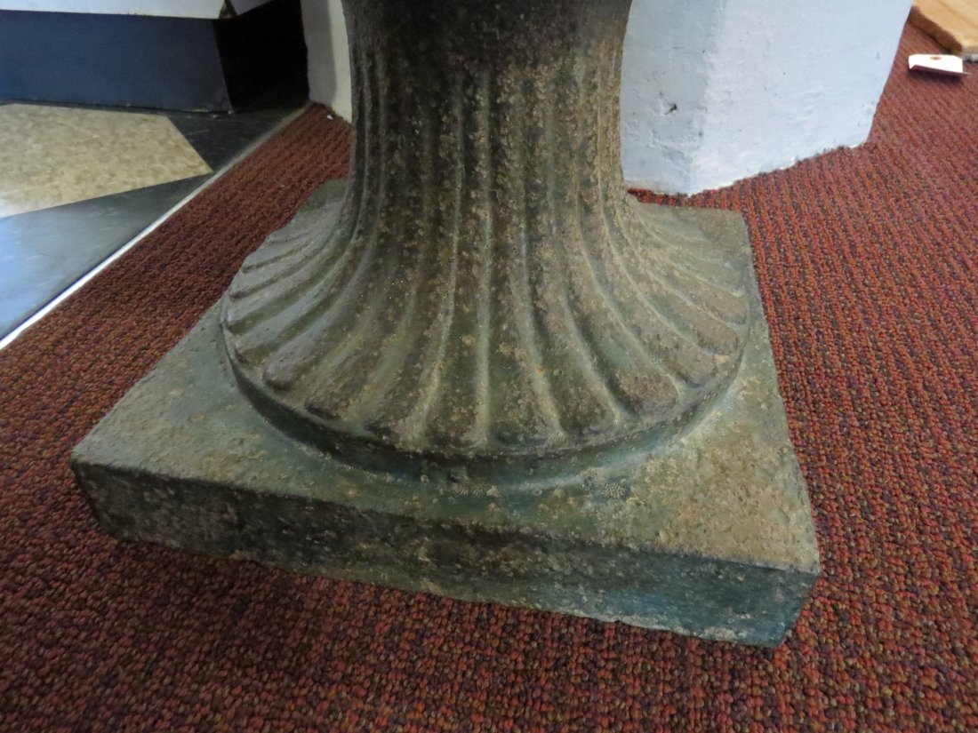 A Pair of Cast Iron Urn Form Planters. - 5