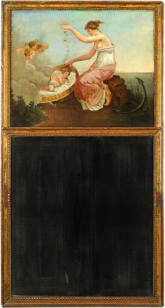 An Early 19th Century Trumeau Mirror.