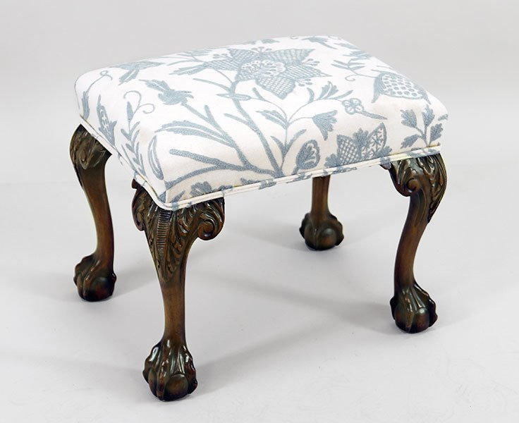 A Chippendale Style Carved Mahogany Stool.