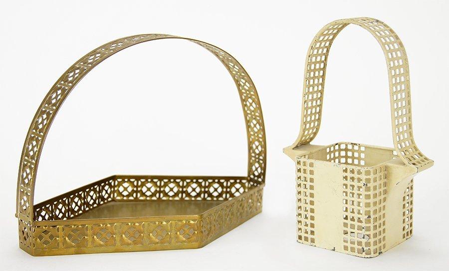 Two Wiener Werkstatte Pierced Basket Forms.