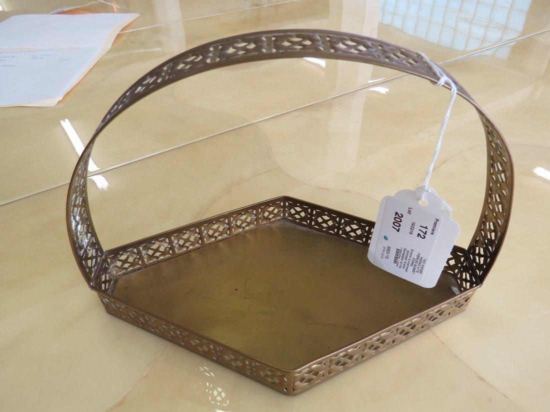 Two Wiener Werkstatte Pierced Basket Forms. - 7