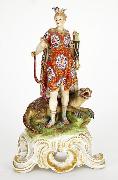 An 18th Century Bow Porcelain Allegorical Figure.
