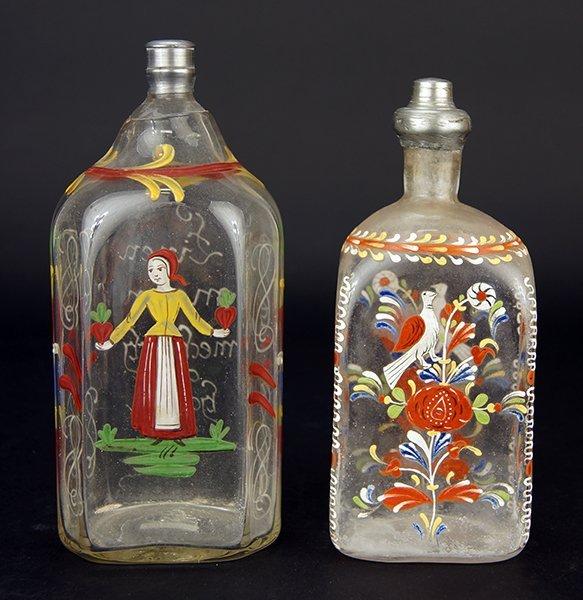 Two 19th Century German Glass Bottles.