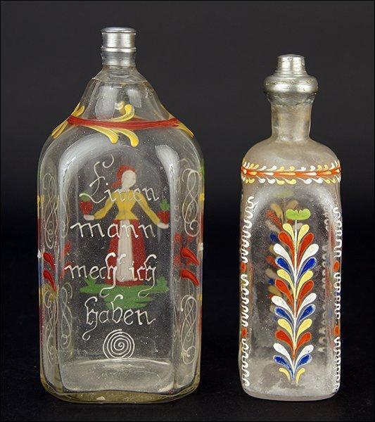 Two 19th Century German Glass Bottles. - 2