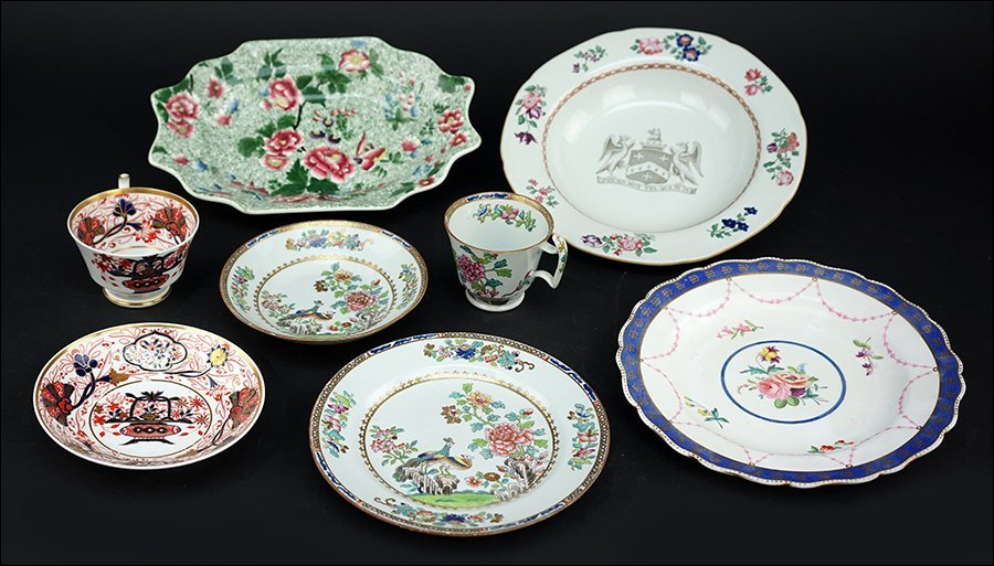 A Collection of English Spode Porcelain.