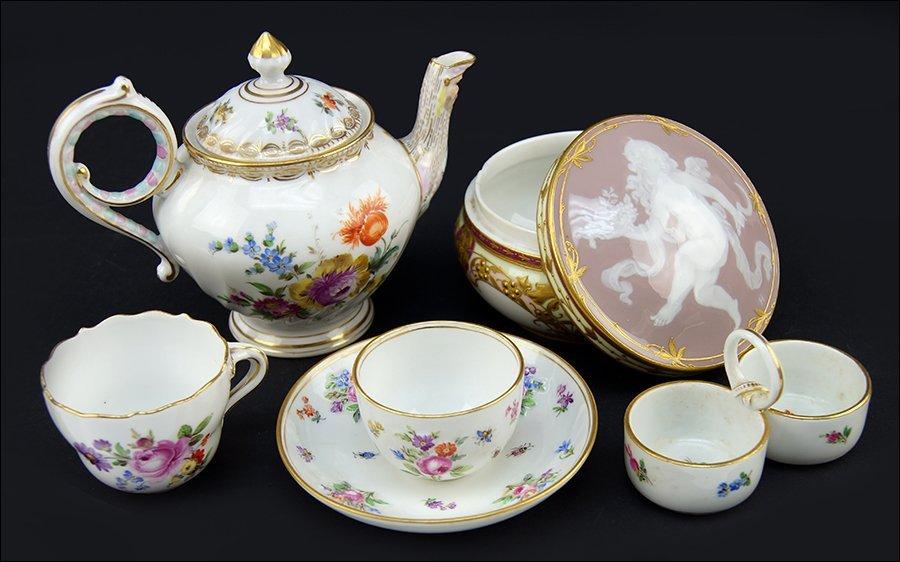 A Meissen Porcelain Teacup and Saucer.