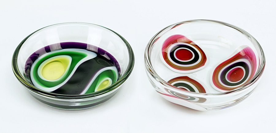 Two Baccarat Crystal Dishes.