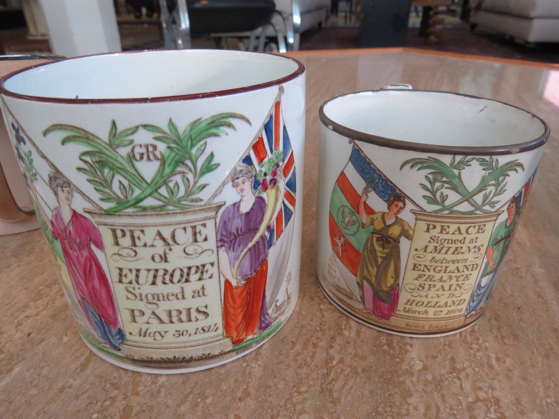 Two Bristol Pottery Peace Cups. - 2