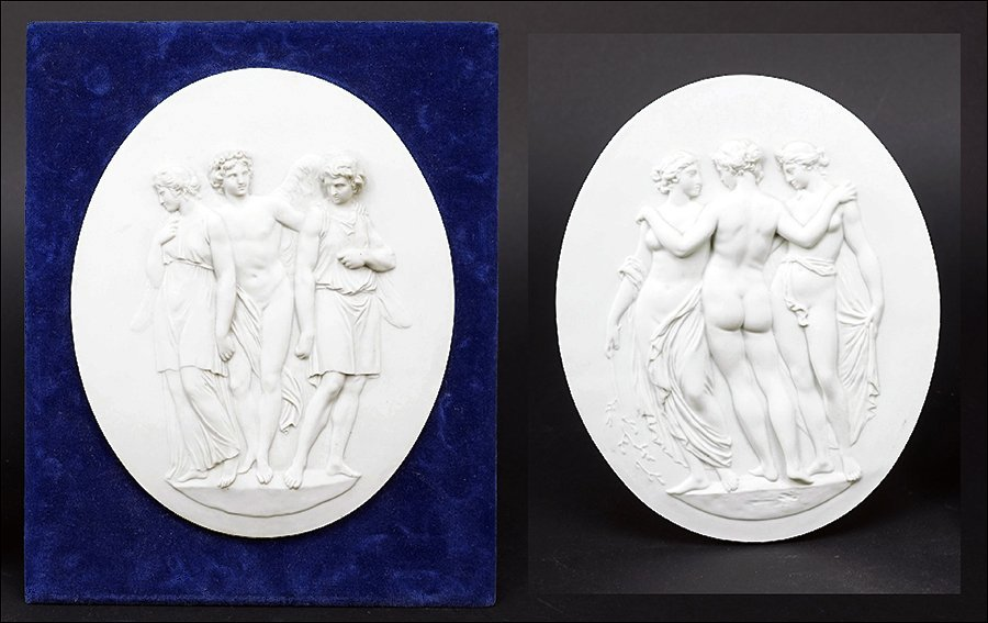 Two Sevres Parian Ware Porcelain Plaques.