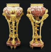 A Pair of French 19th Century Parfumes / Urns.