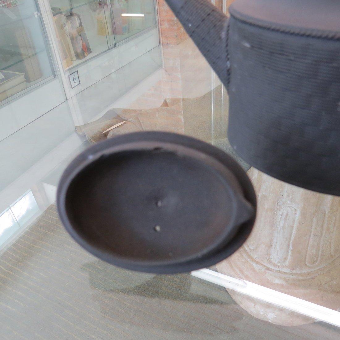 Three 19th Century Wedgwood Basaltware Teapots. - 4