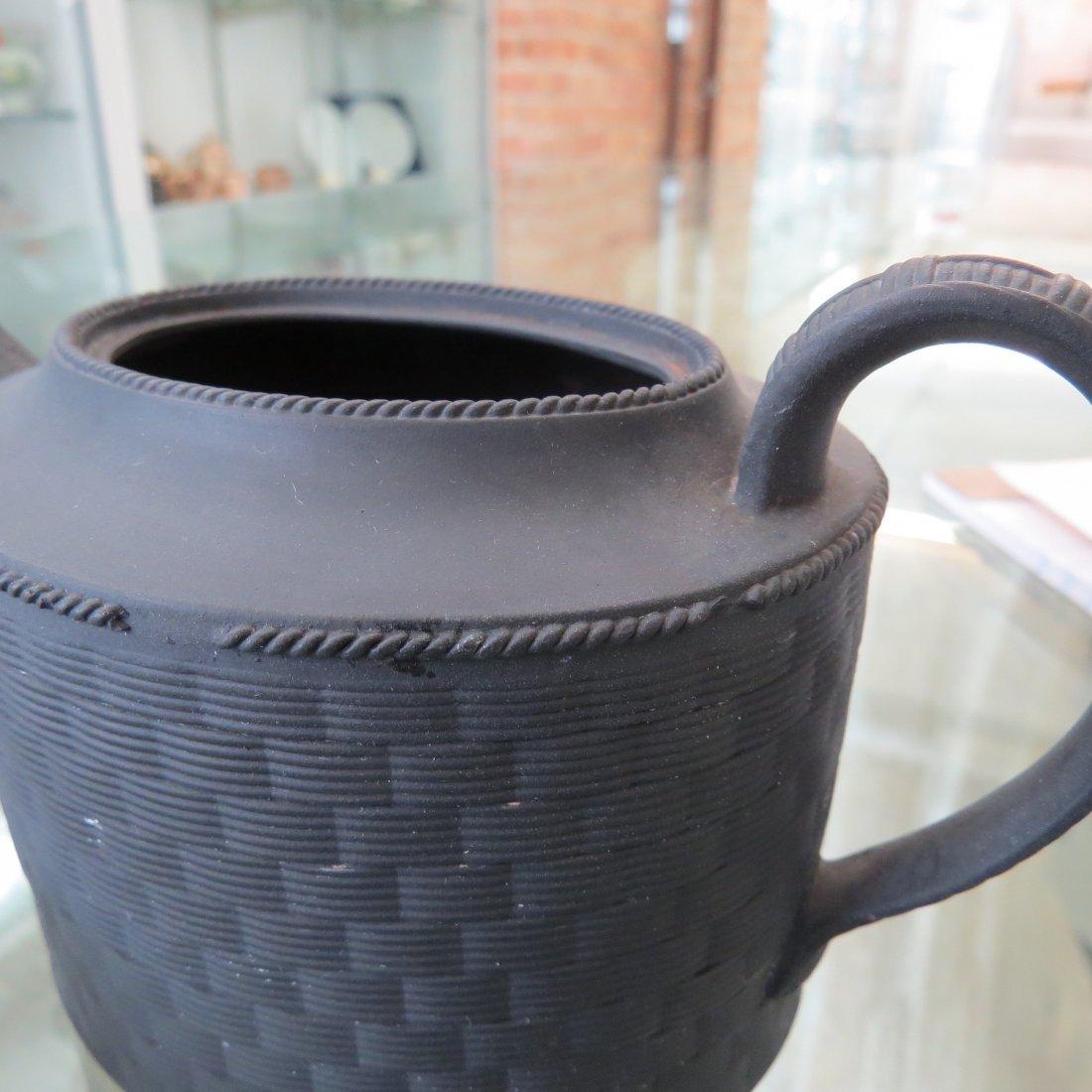 Three 19th Century Wedgwood Basaltware Teapots. - 5