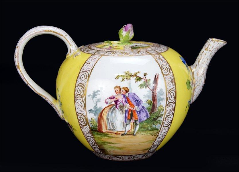 A Late 19th Century Meissen Porcelain Teapot.