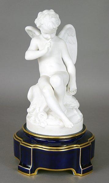 A Sevres Bisque Porcelain Angel Figure.