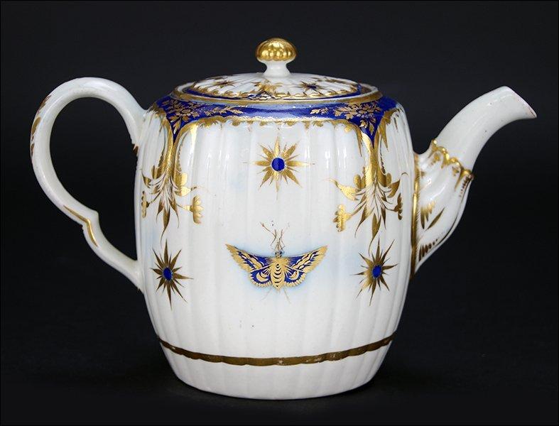 A 19th Century English Porcelain Teapot.