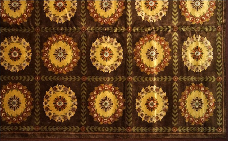 An Aubusson Savonnerie Style Carpet.