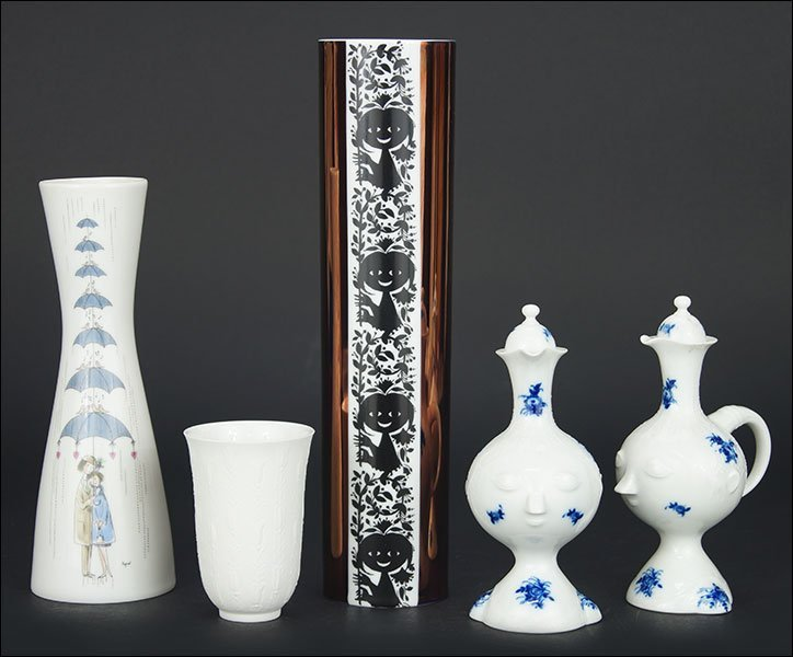 A Collection of Rosenthal Porcelain Articles.