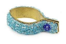 A Coppola E Toppo Blue Beaded Cuff Bracelet.