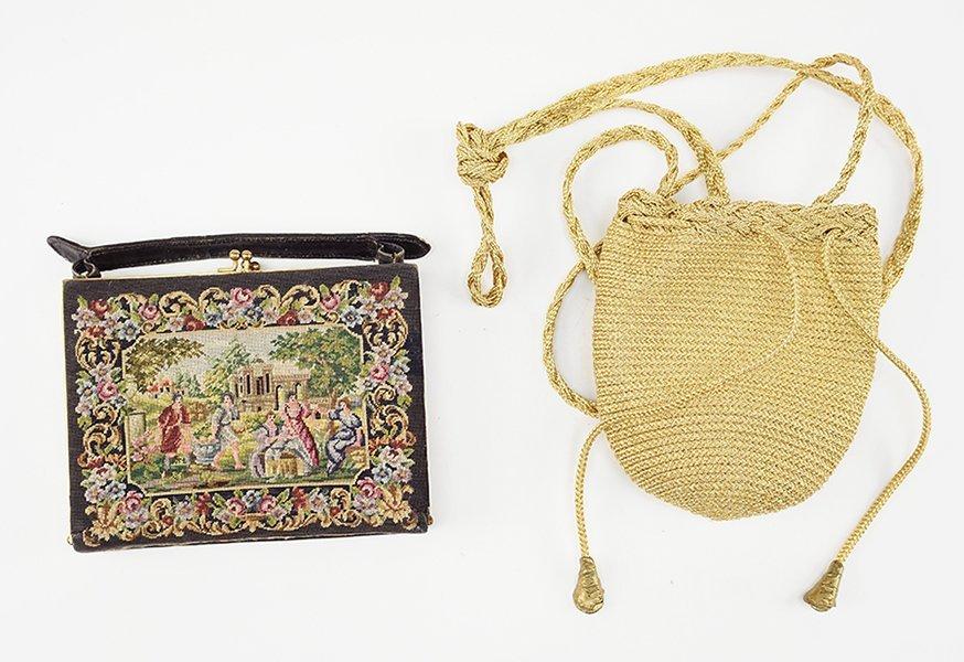A Donna Karan New York Gold Evening Bag.