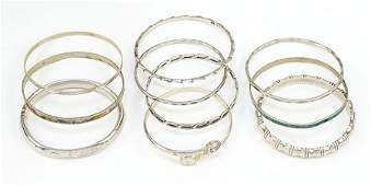 An Amethyst and White Quartz Bracelet