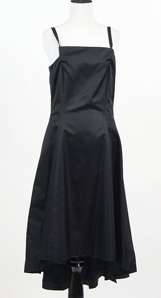 A Comme des Garcons Black Silk Evening Dress.