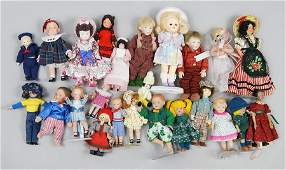 Group of Small Bisque Dolls.