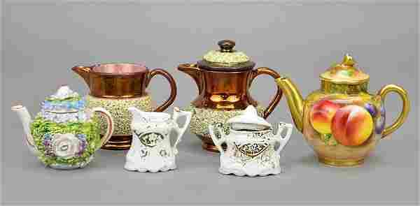 A Collection of Porcelain Miniature Tea Set Articles.