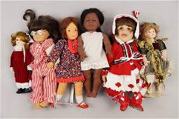 Group of Porcelain and Plastic Dolls.