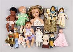 Group of Small Porcelain and Plastic Dolls.