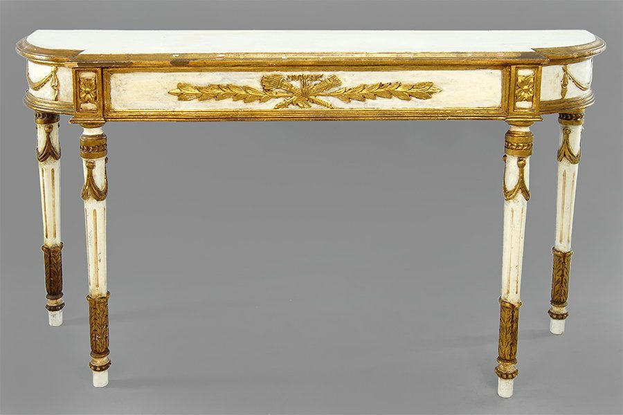 An Italian Gilt Wood and Gesso Console Table.