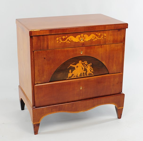 A Beidermeier Chest of Drawers.