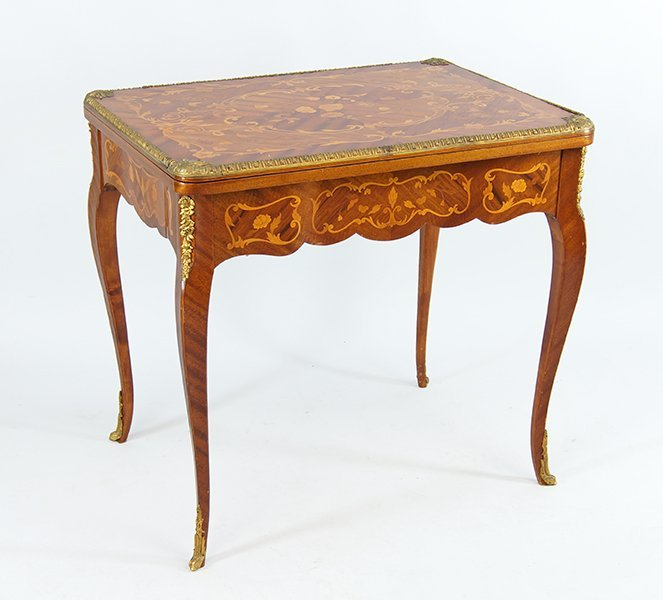 A French Marquetry Inlaid Occasional Table.