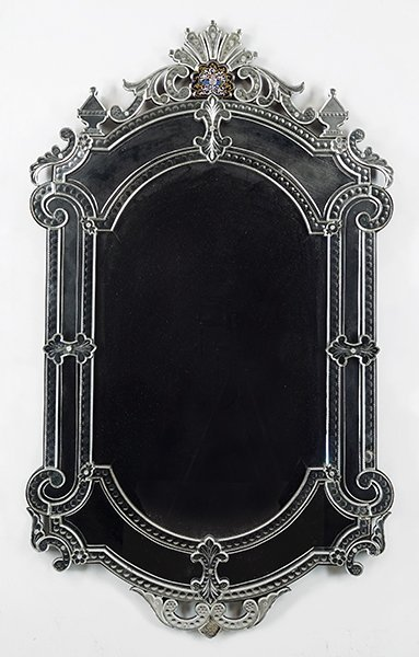 A Venetian Glass Mirror.