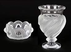 A Lalique Frosted and Clear Crystal 'Ermenonville'