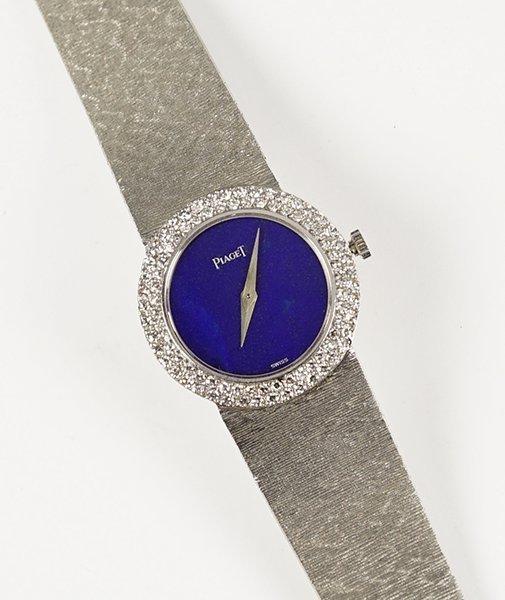 A Piaget 18 Karat White Gold Lady's Watch.