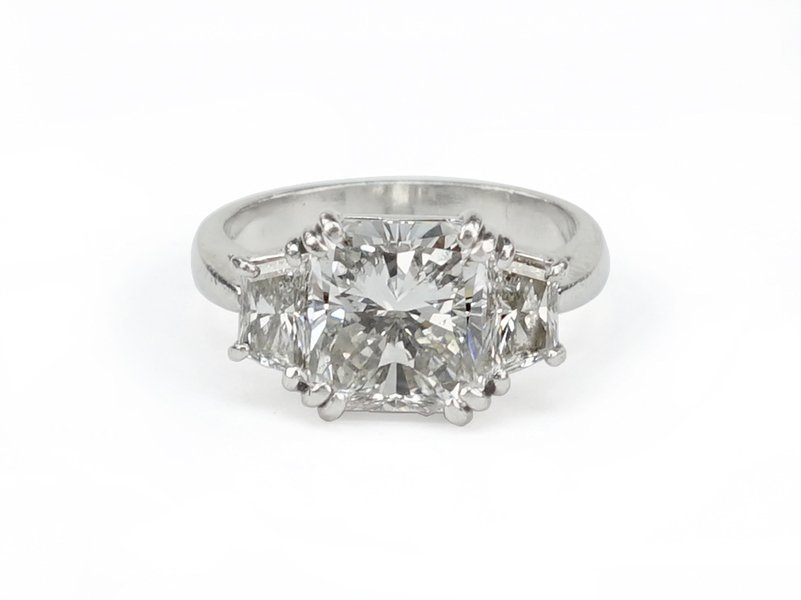 A Diamond and Platinum Ring.