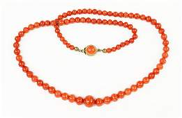 An Italian Coral Necklace.