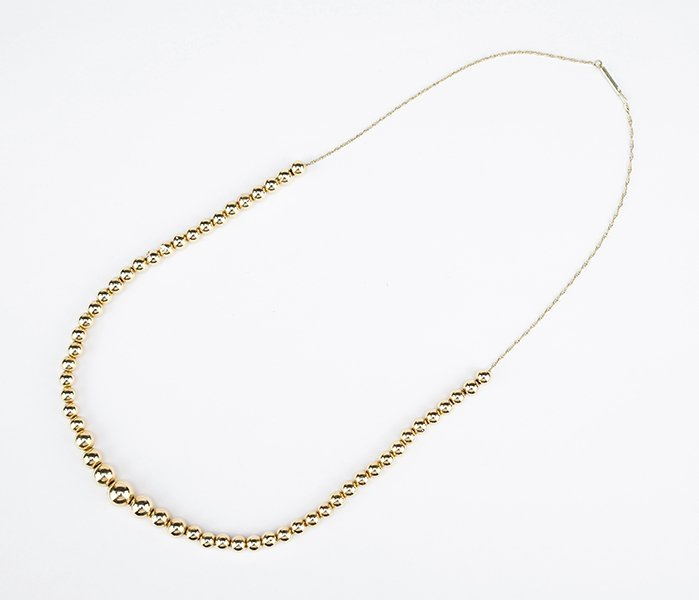A 14 Karat Yellow Gold Necklace.