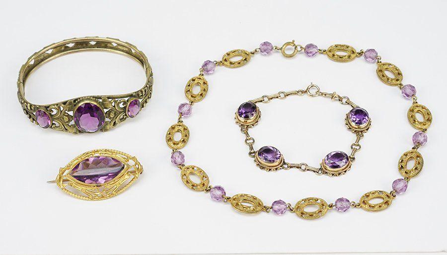 An Amethyst Bracelet.
