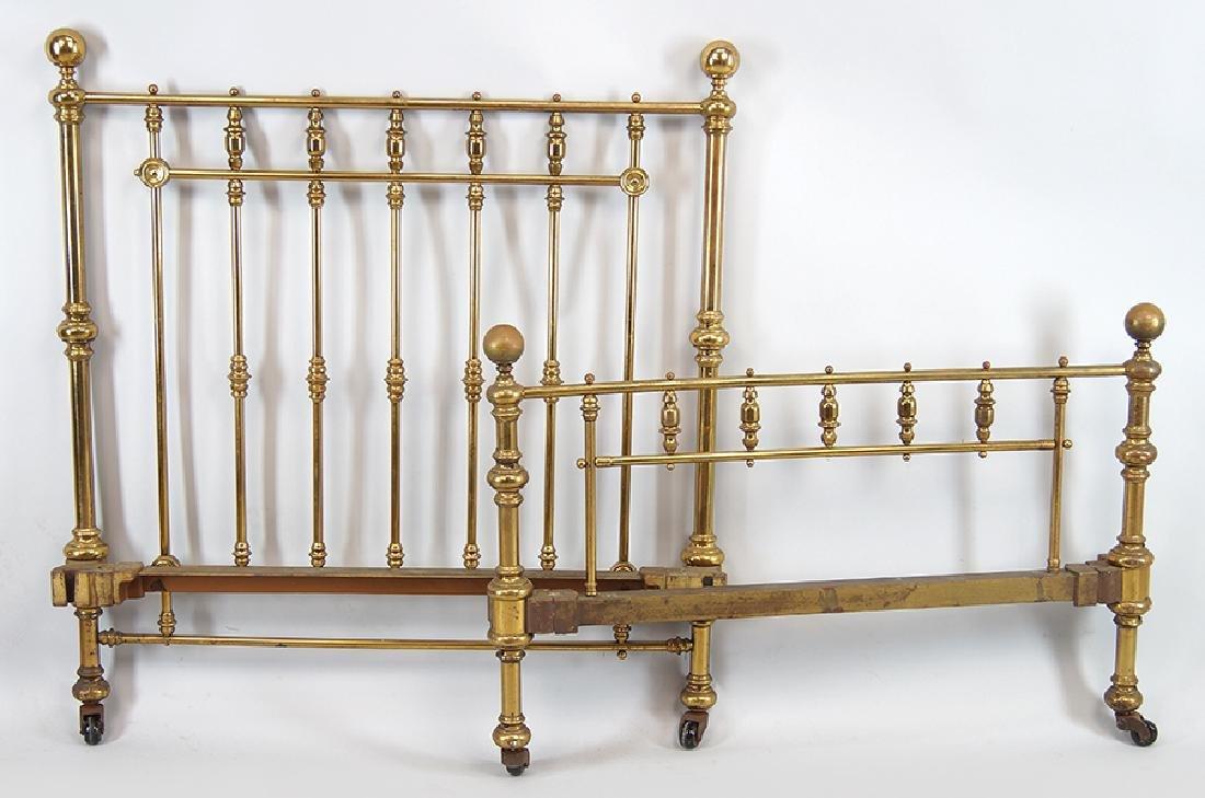 A Brass Bedframe.