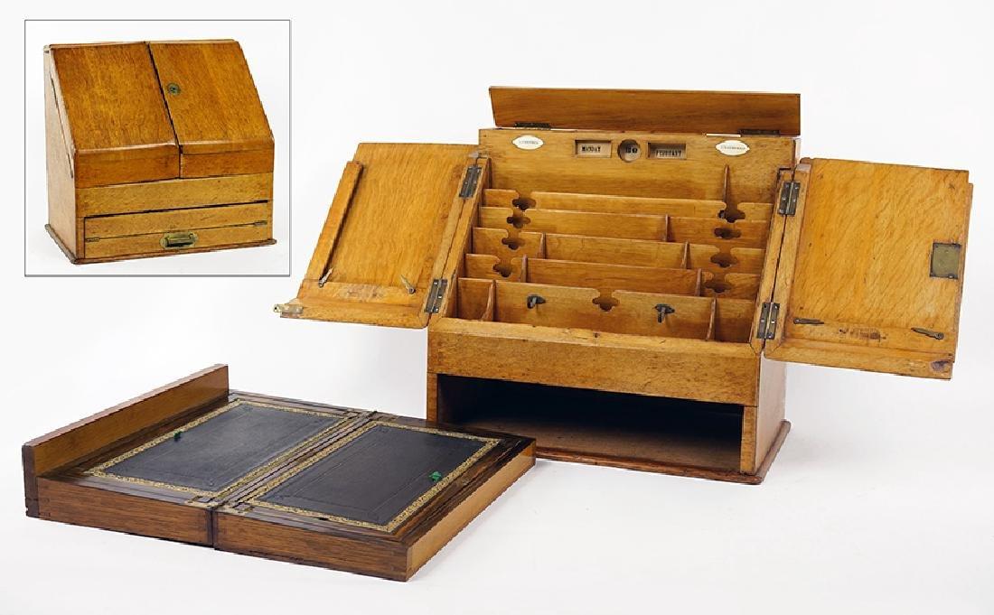 A 19th Century English Oak Portable Secretary.