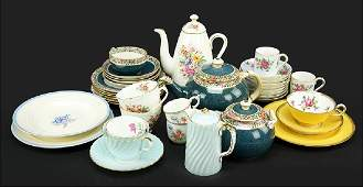 A Collection of Continental Porcelain Tea Service
