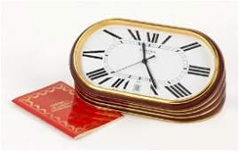 A Cartier Desk Clock.